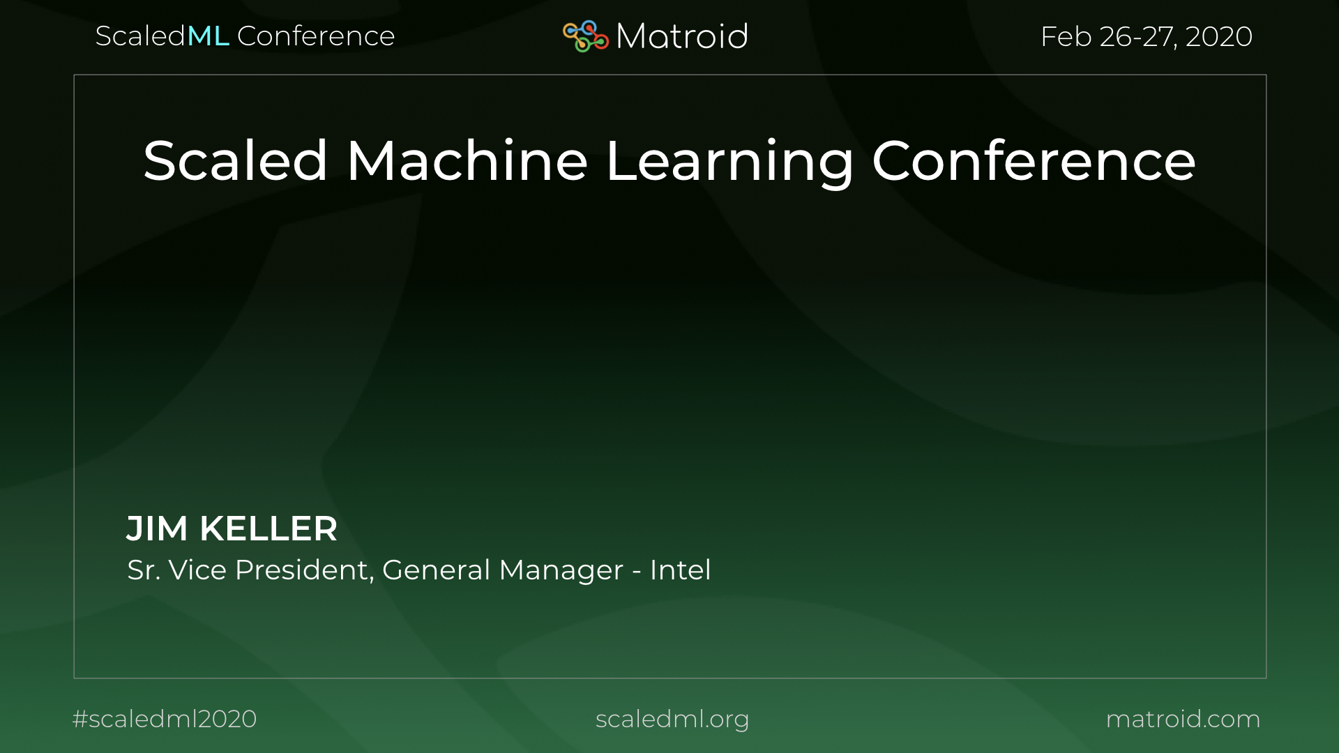 Jim Keller Intel ScaledML Conference TPU CPU GPU Computer Vision AI Artificial Intelligence Machine Learning
