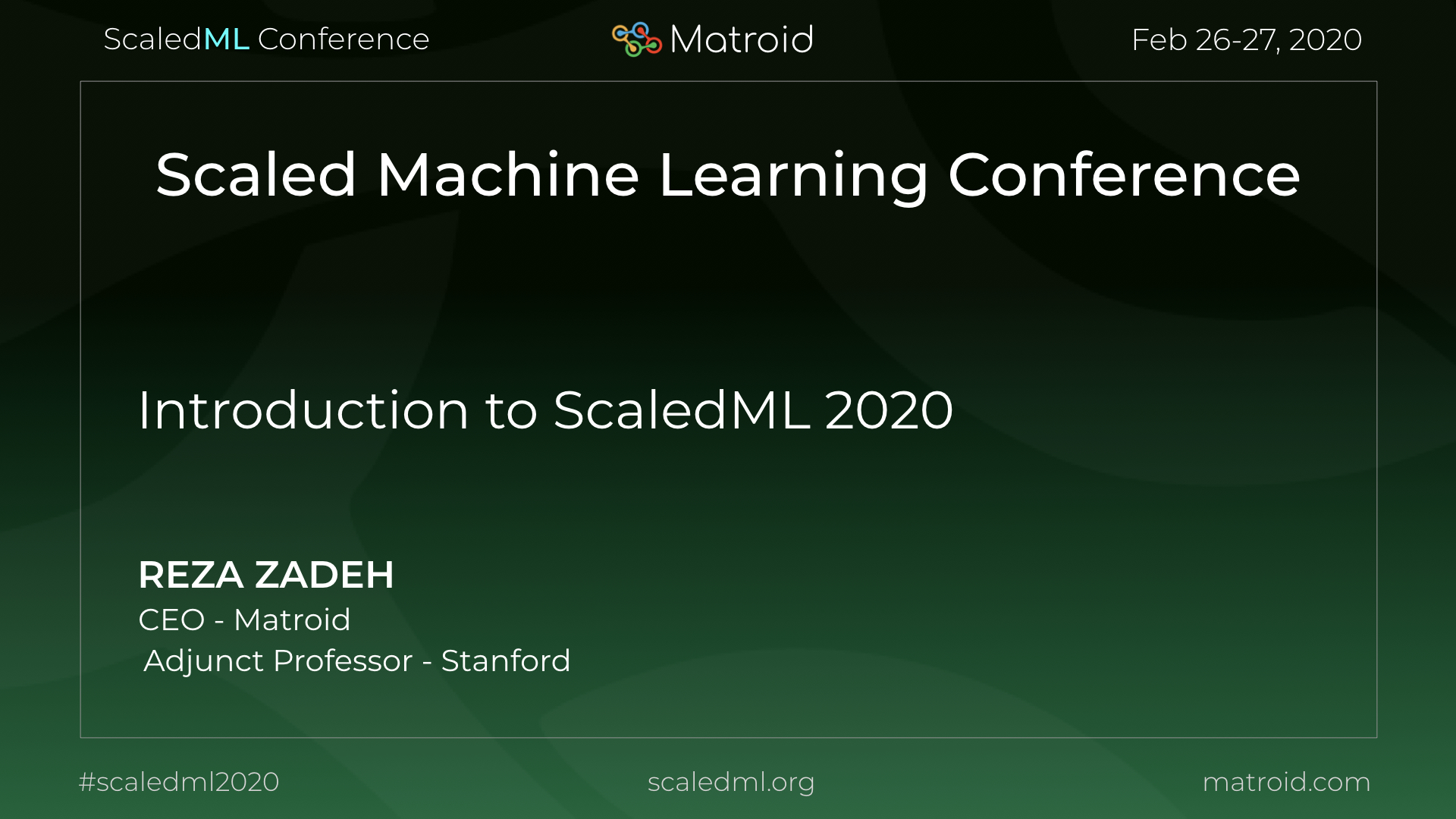 Reza Zadeh Matroid ScaledML Conference CPU GPU Computer Vision AI Artificial Intelligence Machine Learning TPU